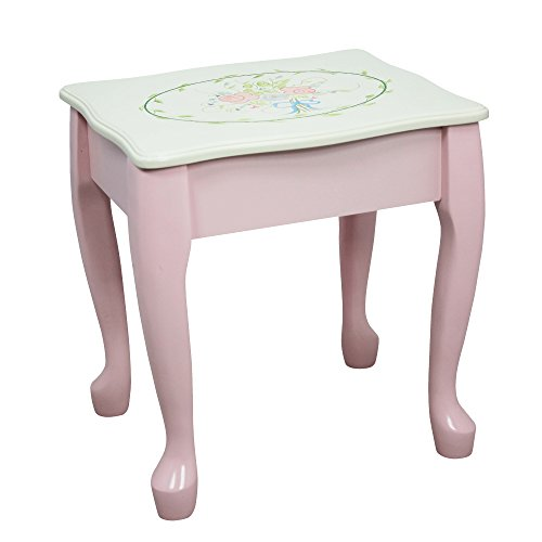 Fantasy Fields - Bouquet Thematic Kids Classic Vanity Table and Stool Set with Mirror | Imagination Inspiring Hand Crafted & Hand Painted Details   Non-Toxic, Lead Free Water-based Paint by Teamson Design Corp (Image #6)
