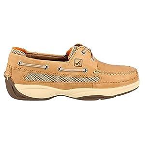 Sperry Top-Sider Lanyard 2-Eye Boat Shoe,Linen,8.5 M US