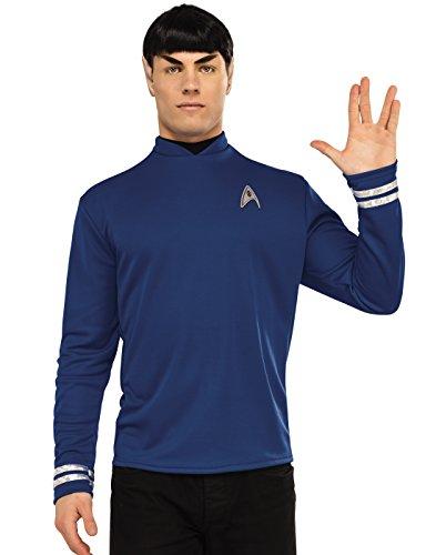 Rubie's Men's Star Trek: Beyond Spock Deluxe Costume Shirt, Blue, (Spock And Uhura Halloween Costume)