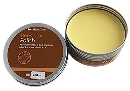 Beeswax Polish for Wood & Furniture | 200ml of Natural Wax for use on all  Wood Types and Colours - Oak Wood, Teak Wood, Dark and light wood - Protect