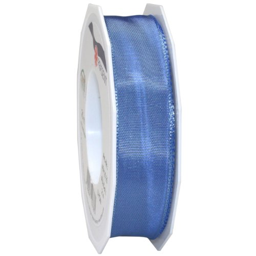 Morex Ribbon French Wired Lyon Ribbon, 1-Inch by 27-Yard Spool, Porcelan Blue
