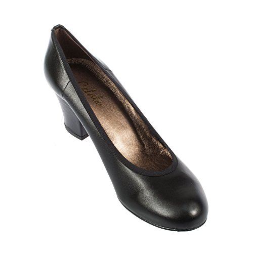 Cefalu Women's Jerirlle-S Black Leather Heel Shoe Black 0jbFj0ADPW