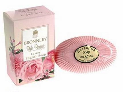 Bronnley Single Tablet Soap 100g Pink Bouquet by Bronnley