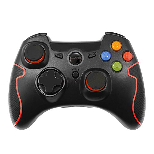 EasySMX Wireless 2.4g Game Controller Support PC (Windows XP/7/8/8.1/10) and PS3, Android, Vista, TV Box Portable Gaming Joystick Handle Black and - Game Controller Best Video