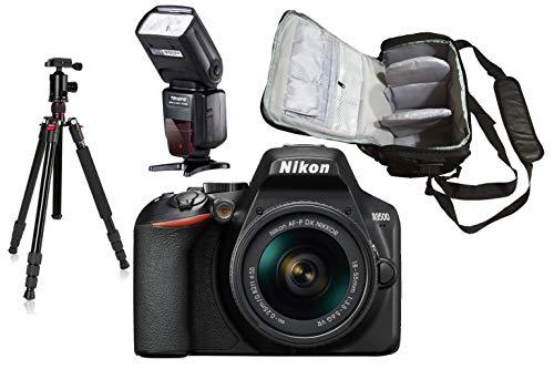 D3500 DSLR Camera with AF-P 18-55mm VR Lens (Black) with KamKorda Professional Camera Bag + Advanced Camera Tripod…