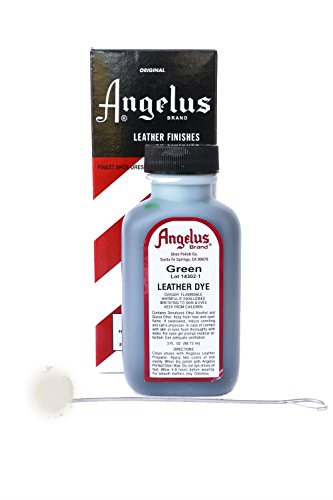 Angelus Brand Leather Dye w/Applicator - 3 oz, Green