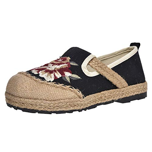 On Slippers National Casual Thick Bottom Shoes Sandals Sunyongsh Flat Straw Slip Women's Black Student Single Platform D9WEH2I