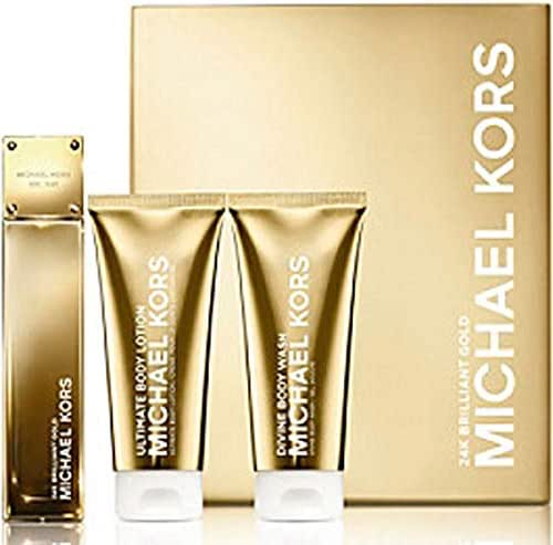 Michael Kors 24K Brilliant Gold Set 3.4 Edp + 3.4 Bl + 3.4 Bw