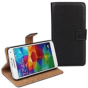 GOG- ships in 48 hours Genuine Leather Full Body Case with Strap and Sticker for Samsung Galaxy S5