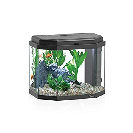 Acuario hexagonal 27L. Color Negro