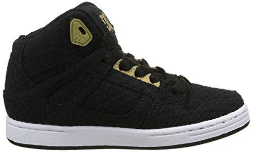 DC Shoes Rebound Tx Se, Zapatillas Altas para Niñas, Negro Negro (Black / Gold)
