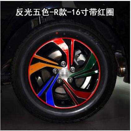 Mixed Powder Carbin Fibre Red Purple Green colors 16 Inch Wheels Rims Stickers for Honda Accord 2016 BA060A  (color Name  Powder)