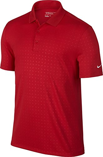 Nike Golf Victory Emboss Polo (University Red/White) S