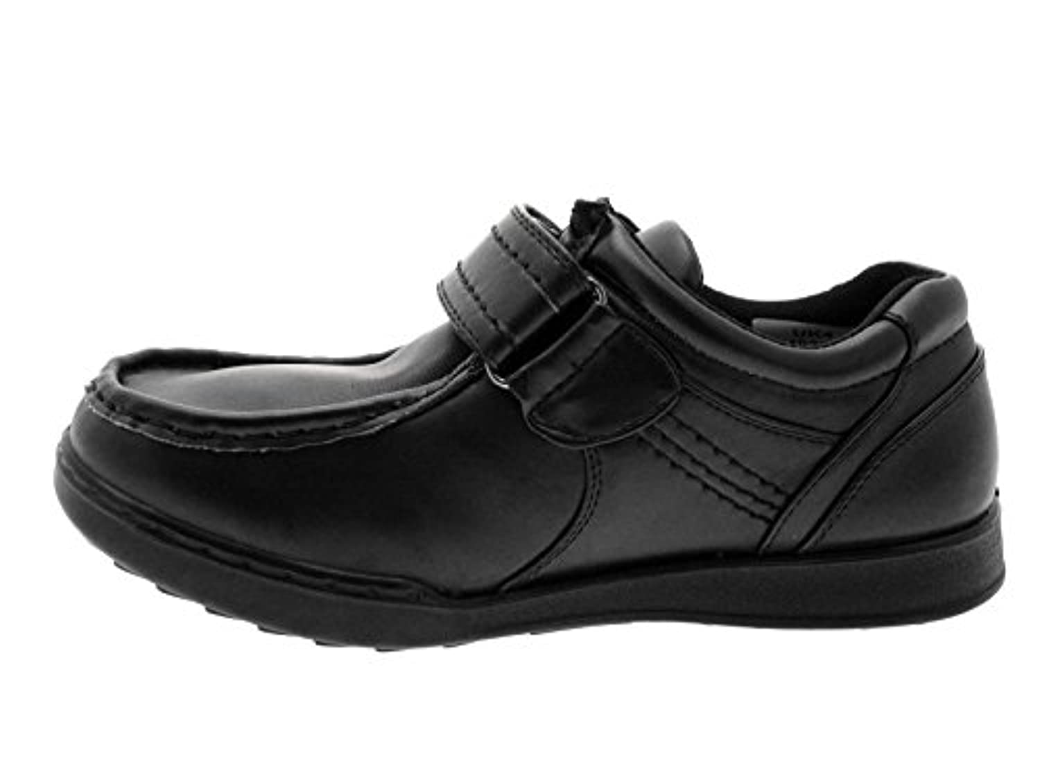 Lora Dora Boys Kids Black Velcro School Shoes Size UK 8