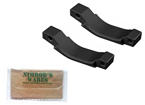 2-Pack Magpul Aluminum Enhanced Trigger Guard Black + Nimrod's Wares Microfiber Cloth