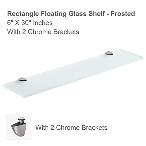 Review Fab Glass and Mirror Rectangle Floating Glass Shelf Kit with By Fab Glass and Mirror by Fab Glass and Mirror
