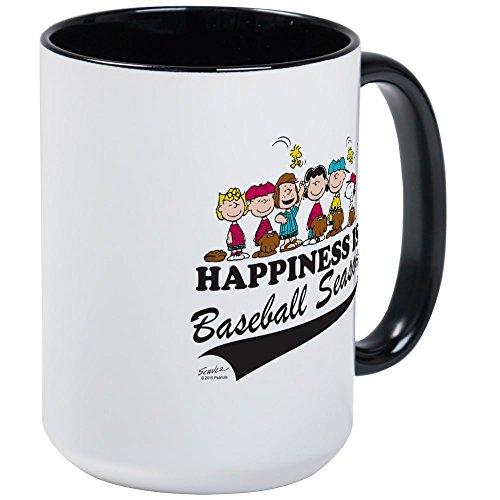 CafePress - The Peanuts Gang Baseball Large Mug - Coffee Mug, Large 15 oz. White Coffee Cup (Peanuts Coffee Cup Gang)