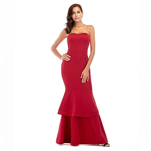 amp;s Evening Mei Red Dress Stomacher Party da donna Bqnd8H