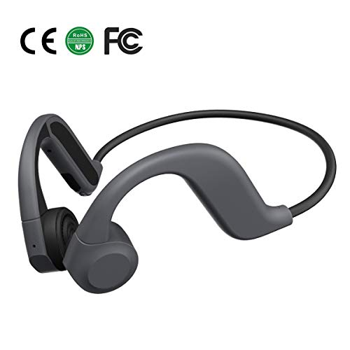 Bone Conduction Headphones with Microphone for Sports Bluetooth 5.0 8GB Memory Waterproof Wireless Sports Headphones…