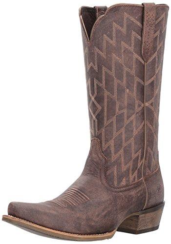 Ariat Womens Heritage Southwestern X Toe Work Boot, Tack Room Honey, 11 B US Tack Room Chocolate