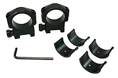 "Monstrum Tactical Heavy Duty Rifle Scope Ring Set, Medium Height, with Picatinny/Weaver Rail Mount, for 30mm or 1"" Scopes"