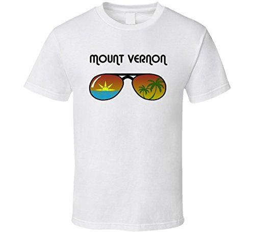 Mount Vernon Sunglasses Favorite City Fun in The Sun T Shirt L White