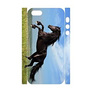 J-LV-F Cell phone Protection Cover 3D Case Horse For Iphone 5,5S