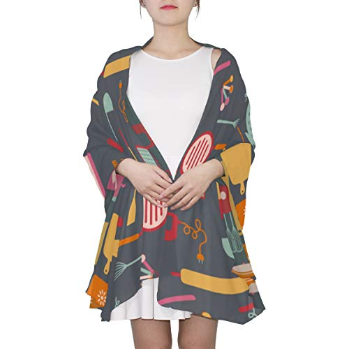 Kitchen Cooking Equipment Unique Fashion Scarf For Women Lightweight Fashion Fall Winter Print Scarves Shawl Wraps Gifts For Early Spring