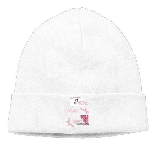 RTQSA Girl Snowboard Snowboarder Gift Beanie Hat Cool Cute Flat Brim\r\n Stocking