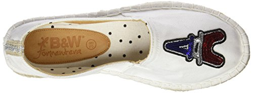 Break and Walk HV221831, Alpargatas Mujer Blanco (White)