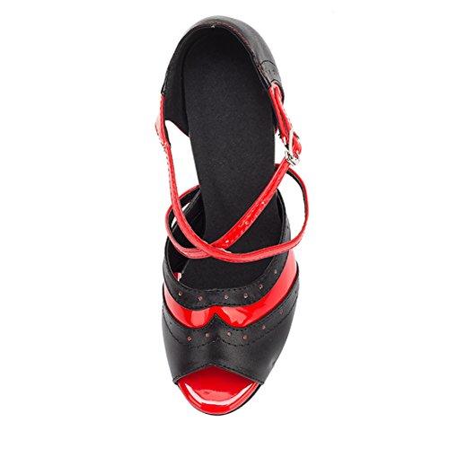 5cm Miyoopark Piel Miyooparkuk 8 red De Mujer hw180519 Salón Heel Black 4ZzWnxHrzT
