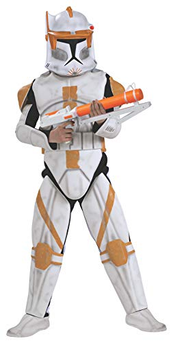 Rubies Star Wars Clone Wars Child's Clone Trooper Deluxe Commander Cody Costume and Mask, -