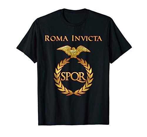 Roma Invicta SPQR T-Shirt | Rome Roman Empire Latin T Shirt ()