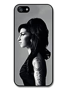 AMAF ? Accessories Amy Winehouse Black and White Posh Profile Portrait case for iphone 6 plus