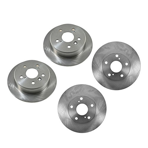 Brake Rotor Front & Rear Kit of 4 for Lexus ES300 Toyota Camry -