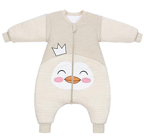 PEACE MONKEY Toddler Sleep Sack Cotton Detachable Sleeve Wearable Blanket Winter Baby Pajamas (L, Crown)