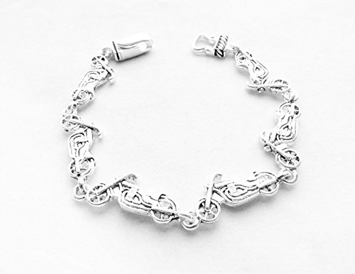 Hope Collection Silver - Plated Motorcycle Bracelet by Hope Collection