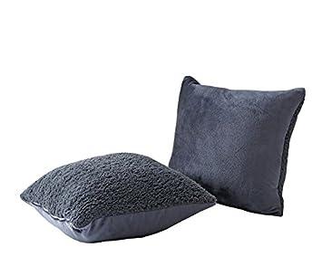 Amazon.com: warmoon peluche piel sintética funda de cojín de ...