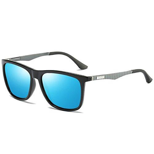 blue conducción Plateado moda de conducir de sol sol polarizadora de nueva gafas Gafas qCaR7wx