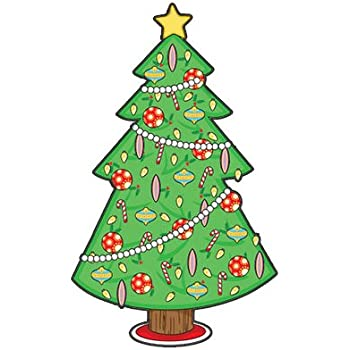 Oliveru0027s Labels Christmas Tree Wall Decal u0026 Christmas Decorations Peel and Stick Removable Reusable Decoration  sc 1 st  Amazon.com & Amazon.com: Oliveru0027s Labels Christmas Tree Wall Decal u0026 Christmas ...