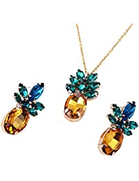 Sparkling Yellow Emerald Crystal Vintage Trendy Fruit...