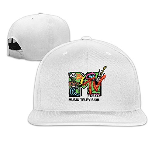 Zu Cu Cu Baseball Cap Adjustable Hip-hop MTV Baseball Hats for Men Boys White