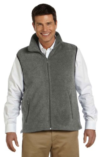 Harriton Men's Fleece Vest - Large - (Harriton Mens Full Zip Fleece)
