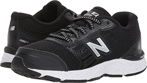 New Balance Boys' 680v5 Running Shoe, Black/White, 7 W US Big - Shoes New Boys Balance Wide