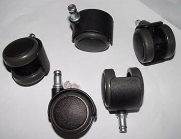 Parkett Stuhlrolle Hartbodenrolle 11 mm Stift ohne Bremse für Laminat Fliesen
