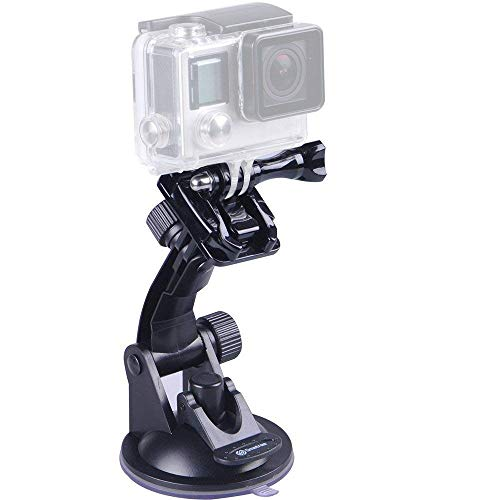 Smatree Suction Cup Mount Compatible for GoPro Hero 7/6/5/4/3+/3/Session/GOPRO HERO 2018/DJI OSMO Action Camera