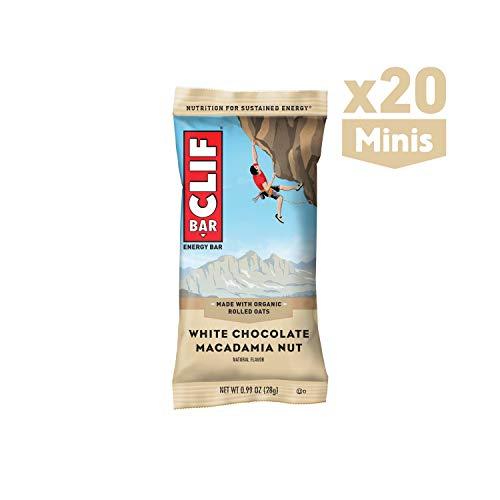 CLIF BAR - Mini Energy Bar - White Chocolate Macadamia - (0.99 Ounce Snack Bar, 20 Count)