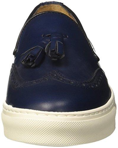 Soldini Blu Navy b Mocassini v06 Uomo Loafer 20436 77qTrwA