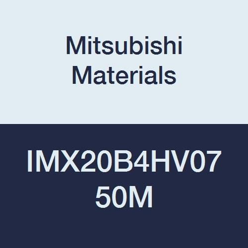 4 Flutes Mitsubishi Materials IMX20B4HV0750M iMX-B4HV IMX20 Carbide Exchangeable Head Ball Nose End Mill without Coolant Hole 0.750 Flute Length 0.750 Cutting Dia Vibration Control High Helix