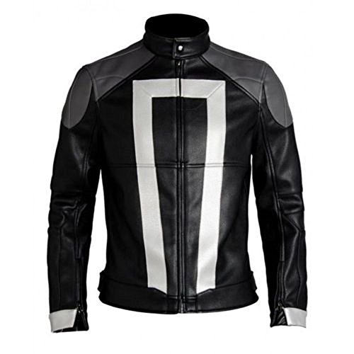 Ghost Rider Leather Jacket Agents Of Shield Season 4 Robbie Reyes Biker Jacket By Gemini Seller (Medium)